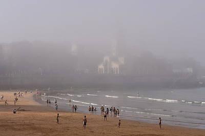 Misty Beach Poster