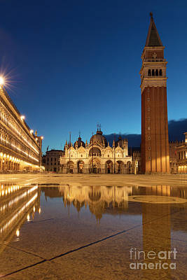 Poster featuring the photograph San Marco Twilight by Brian Jannsen