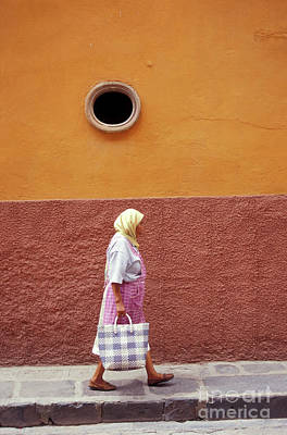 Poster featuring the photograph San Miguel Woman San Miguel De Allende Mexico by John  Mitchell