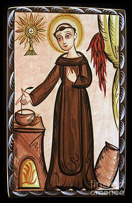 San Pascual Bailon - St. Pascal Baylon - Aopab Poster by Br Arturo Olivas OFS