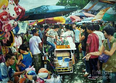 San Pedro Market Scene Poster