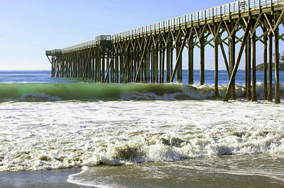 Poster featuring the photograph San Simeon Pier by Art Block Collections