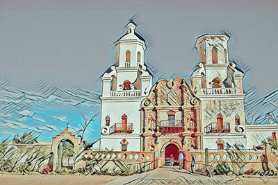 Poster featuring the photograph San Xavier Del Bac Remix One by Dan McManus