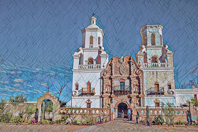 Poster featuring the photograph San Xavier Del Bac Remix Two by Dan McManus