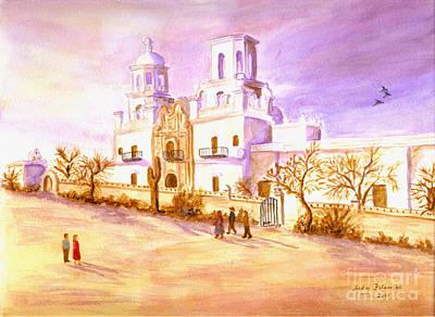 San Xavier Poster by Judy Filarecki