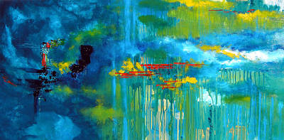 Sanctuary Abstract Painting Poster by Patricia Awapara
