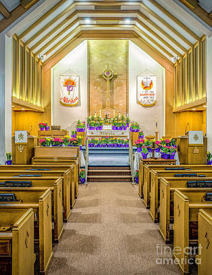 Poster featuring the photograph Sanctuary At Easter by Nick Zelinsky