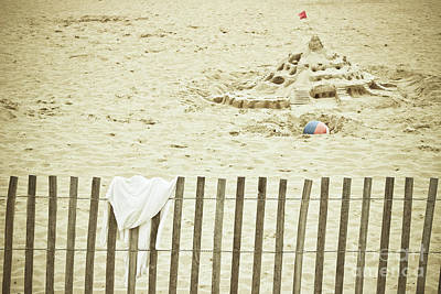 Sandcastle On The Beach Poster by Colleen Kammerer