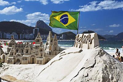 Sand Castle On Copacabana Beach Poster