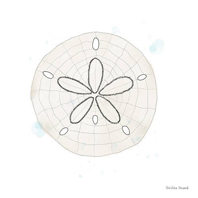 Sand Dollar Whimsy Poster by Christina Steward