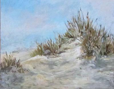 Sand Dunes And Salty Air Poster by Barbara O'Toole