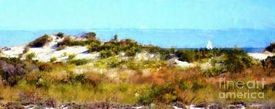 Sand Dunes Assateague Island Poster by Janine Riley
