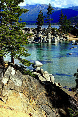 Sand Harbor Morning Poster