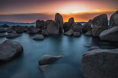 Sand Harbor Sunset Poster