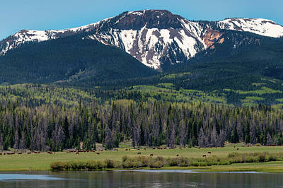 Sand Mountain From Steamboat Lake Poster
