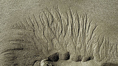 Sand Patterns On The Beach  1 Poster