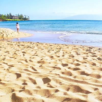 Sand Sea And Shadows Poster
