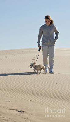 Poster featuring the photograph Sand Walk by Tara Lynn