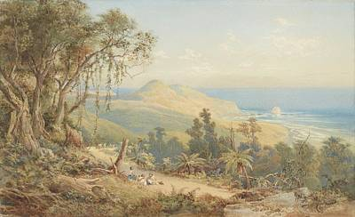 Sandfly Bay Otago, Circa 1879 United Kingdom By Nicholas Chevalier. Poster