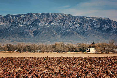 Poster featuring the photograph Sandias - Los Poblanos Fields by Nikolyn McDonald