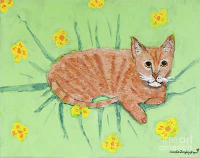 Sandie's Cat Poster