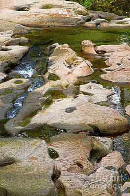 Poster featuring the photograph Sandstone Creek Bed by Sharon Talson