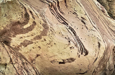 Poster featuring the photograph Sandstone Swirls by Tom Vaughan