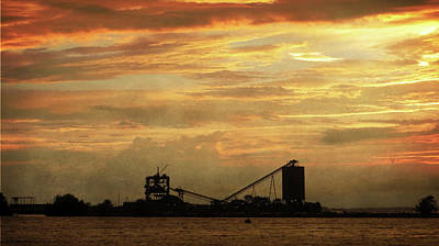 Sandusky Coal Dock Sunset Poster