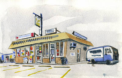 Sandwich Shop Poster by Ashley Lathe