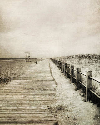 Sandy Beach Pathway - Milford Ct. Poster by Joann Vitali