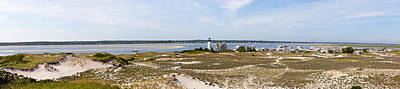 Sandy Neck Lighthouse With Fishing Boat Poster