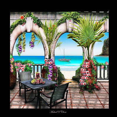Poster featuring the digital art Sangria Beach by Michael Cleere