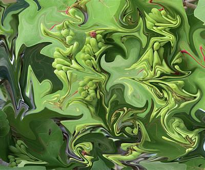 Sanibel Seagrapes Poster by Melinda Saminski