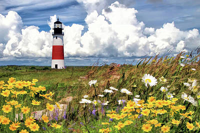 Poster featuring the painting Sankaty Head Lighthouse by Christopher Arndt