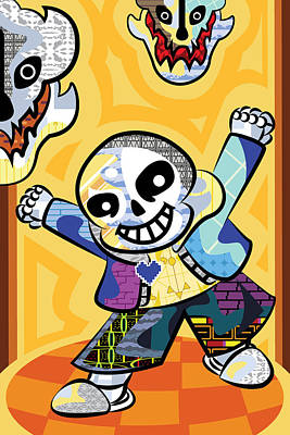 Sans Art Poster by Mary Leroy