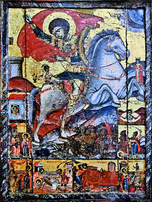 Sant George Slaying The Dragon. Poster
