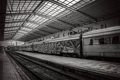 Santa Apolonia Railway Station Lisbon Poster