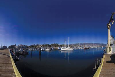 Santa Barbara Harbor Poster by Brian Lockett