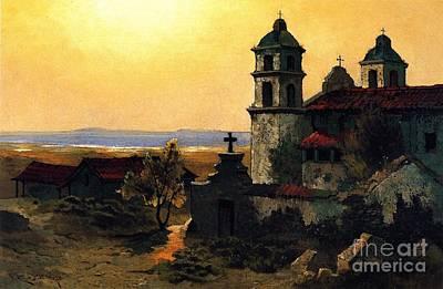 Santa Barbara Mission Poster by Pg Reproductions