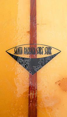Santa Barbara Surf Shop Poster by Ron Regalado
