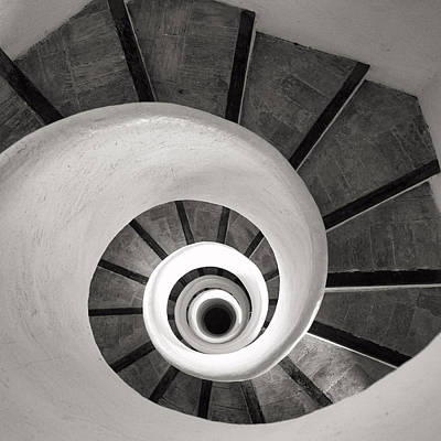 Santa Catalina Spiral Staircase Poster
