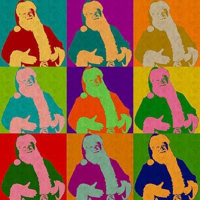 Santa Claus Andy Warhol Style Poster