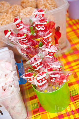 Santa Claus Lolly Pop Bunch Poster by Arletta Cwalina