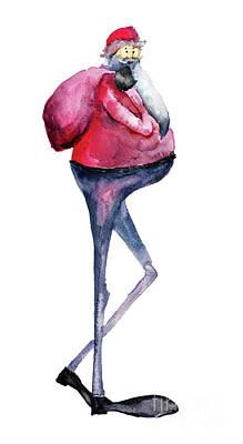 Santa Claus, Watercolor Illustration Poster