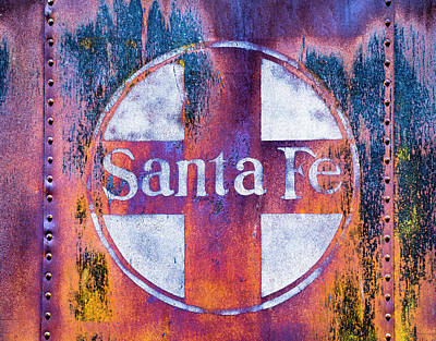 Poster featuring the photograph Santa Fe Rr by Lou Novick