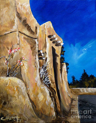 Poster featuring the painting Santa Fe Stroll by Chad Berglund