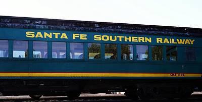 Santa Fe Train Poster