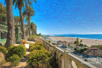 Santa Monica Ca Palisades Park Bluffs Gold Coast Luxury Houses Poster by David Zanzinger