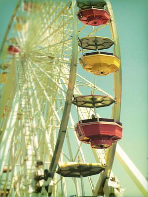 Poster featuring the photograph Santa Monica Ferris Wheel by Douglas MooreZart