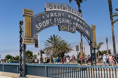 Santa Monica Yacht Harbor At Santa Monica Pier In Santa Monica California Dsc3669 Poster